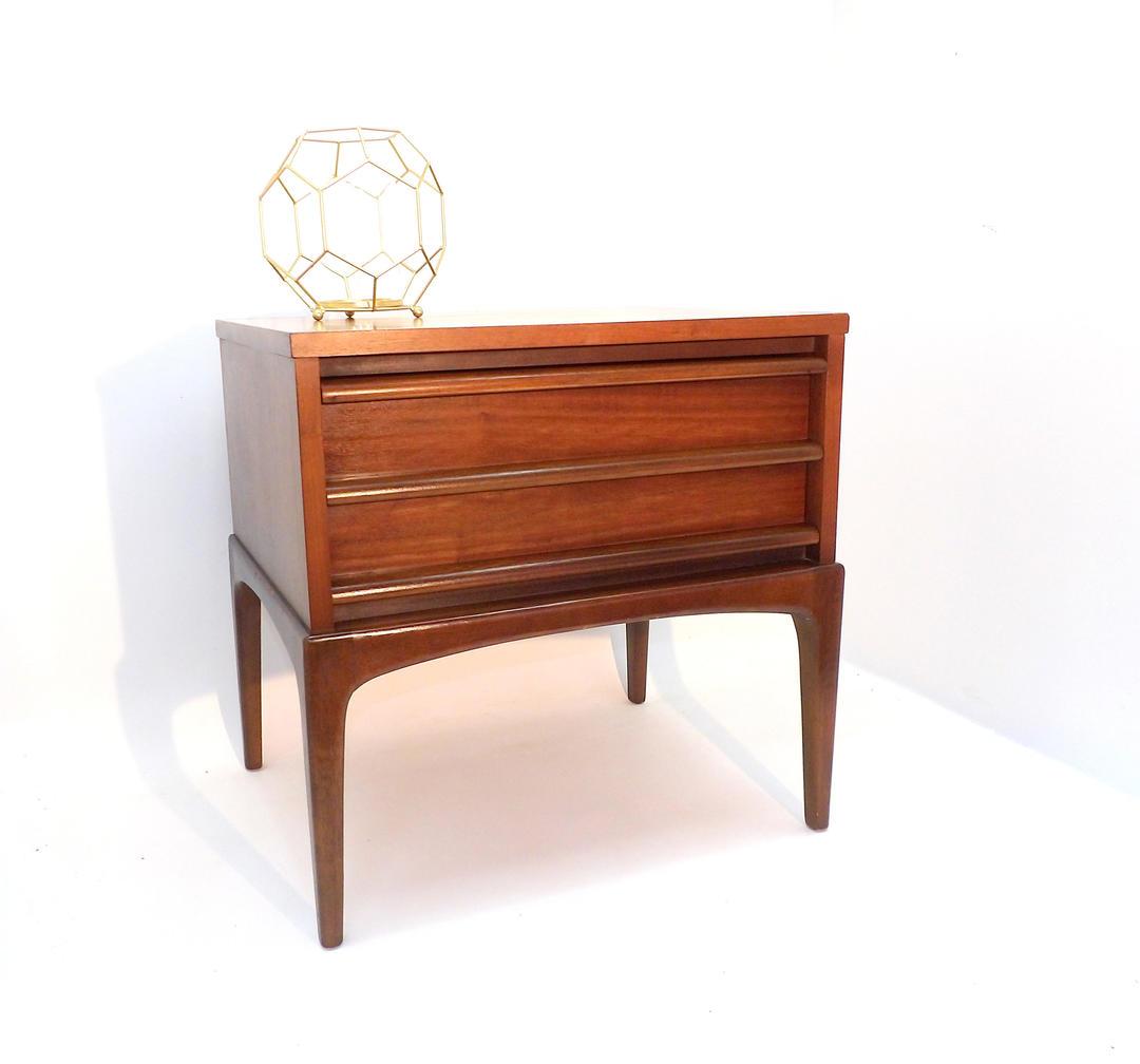 Mid Century Modern Furniture Virginia: Lane Rhythm Nightstand End Table Mid Century Modern