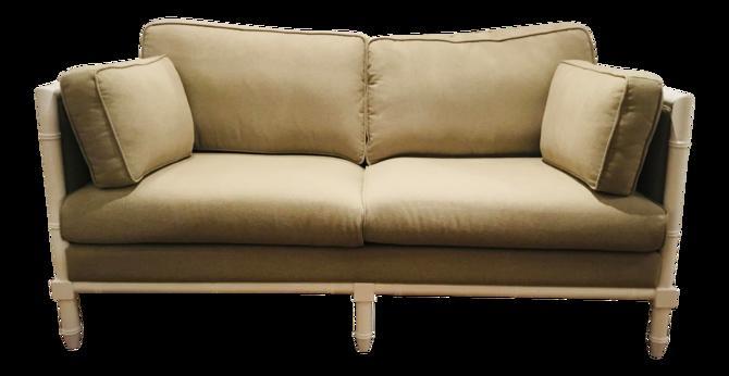 Worlds Away Modern Khaki Ainsley Sofa