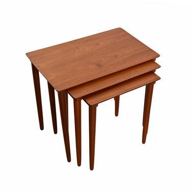 Danish Modern Teak Nesting Tables Mid Century Modern by HearthsideHome