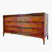 Lane Walnut Dresser Credenza Mid Century Modern by HearthsideHome