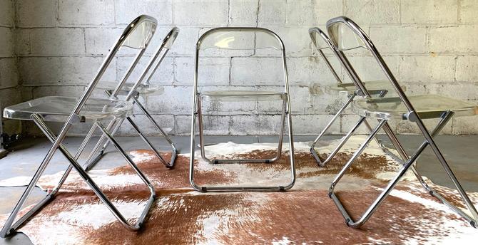 Mid Century MODERN Plia CHAIRS by Giancarlo Piretti for Castelli, Set of 5 by CIRCA60