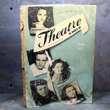 FOR THEATRE LOVERS! Theatre World, 1945-1946 Season, by Daniel Blum, Softcover Edition, 1946 - Broadway Memorabilia by Bixley