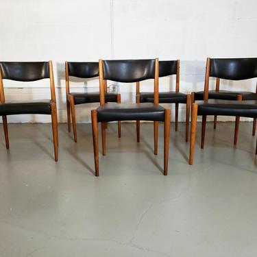Mid Century Danish Modern Set of Six Dining Chairs by ProRefineFurnishings