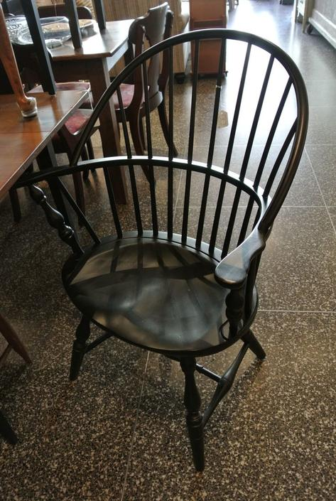 Black Windsor armchair. $150/each, two available.