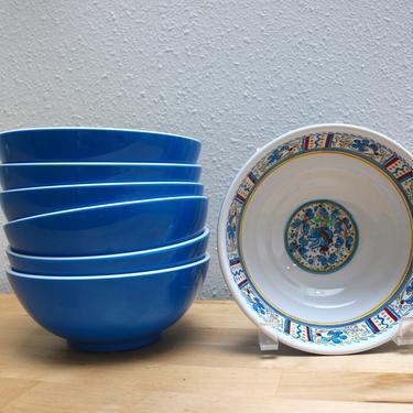 Le Cadeaux Rooster Melamine bowls 7 available