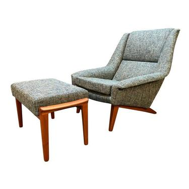 Vintage Danish Mid Century Modern Teak Lounge Chair and Ottoman Model 4410 by Folke Ohlsson for Fritz Hansen by AymerickModern