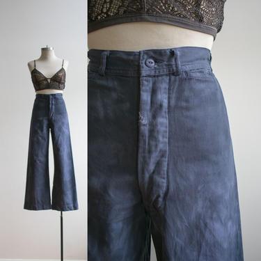 Vintage Overydyed Sailor Pants / Navy Blue Sailor Pants / Vintage Trousers / Blue Trousers 27 / Sailor Pants Size 27 / Sailor Pants 27 x 29 by milkandice