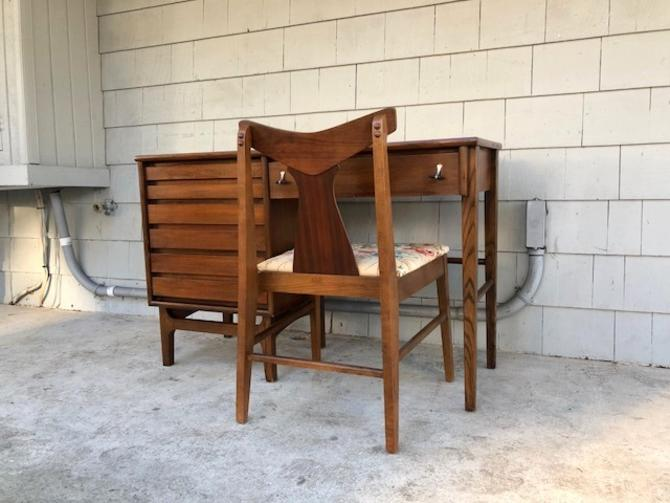 Midcentury 1960s Desk and Chair Set by Stanley