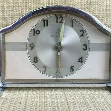 ART DECO GUSTAV BECKER SHELF ALARM CLOCK WORKS! table mantel desk 1930s