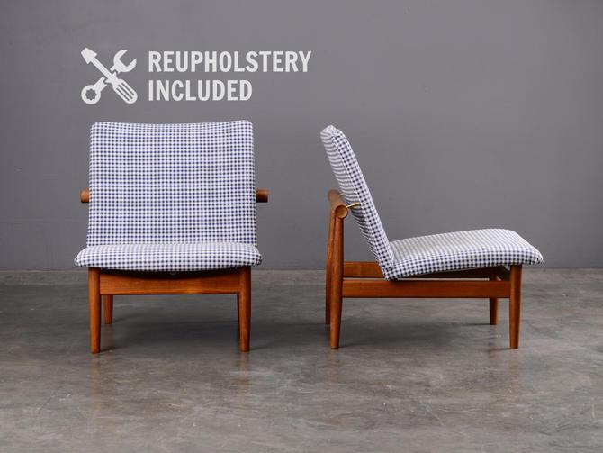 Pair of Finn Juhl Japan Chairs Mid Century Danish Modern by MadsenModern