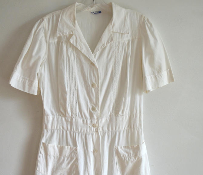 d92b7347bd711e Vintage 1940s White Cotton Nurse Uniform  Sanforized  Kerrybrooke ...