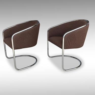 """Joan Burgasser """"Club Tub"""" Chairs (Pair) for Thonet, Circa 1972 - *Please ask for a shipping quote before you buy. by CoolCatVintagePA"""