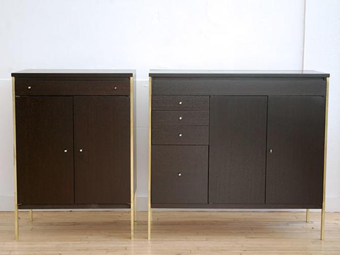 Paul McCobb Ebonized Cabinets