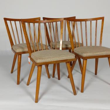 Four Leslie Diamond Side chairs - Birch Maple by ModernMixPlus