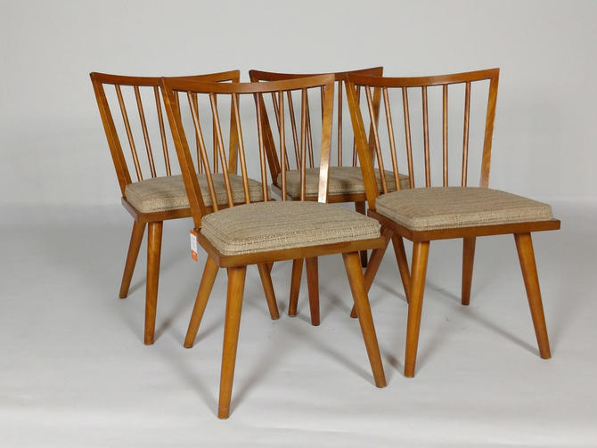 Four Leslie Diamond Side chairs - Birch Maple by ModernMixPlus