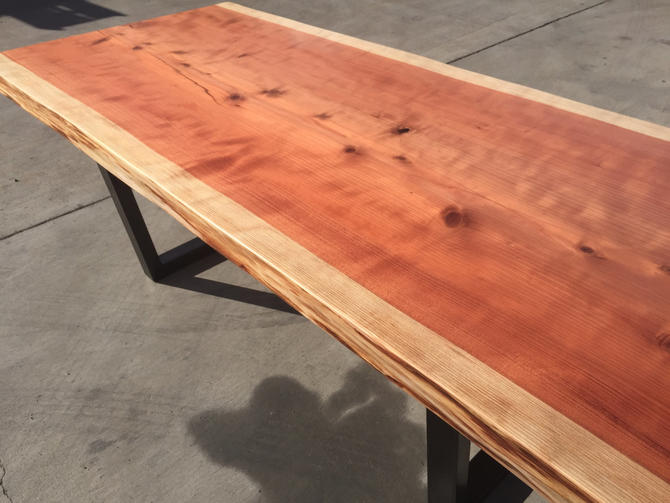 Live Edge Redwood Dining Table by Kristopher Kirkpatrick by KirkpatrickDesigns