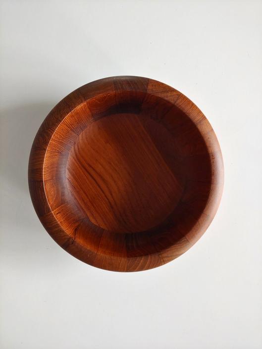 Vintage Dansk Teak Low Staved Bowl Jens Quistgaard by ModandOzzie