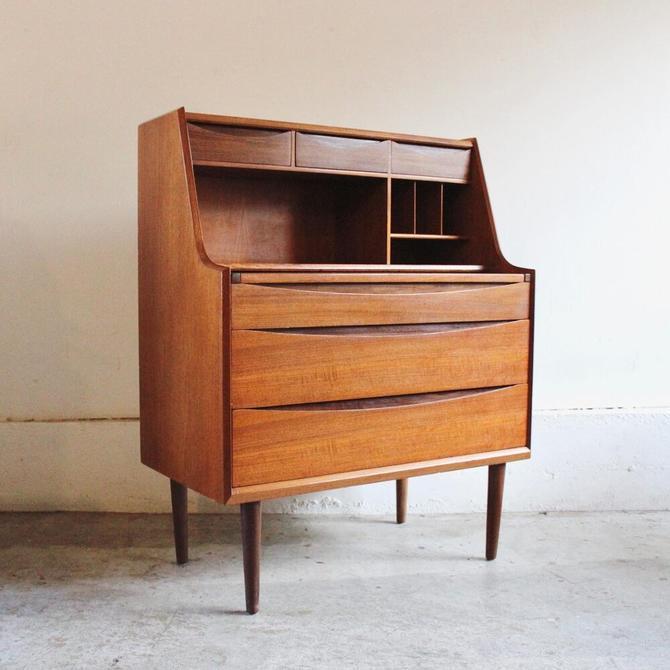 Teak and Afromosia Secretary & Vanity by Olholm Mobelfabrik