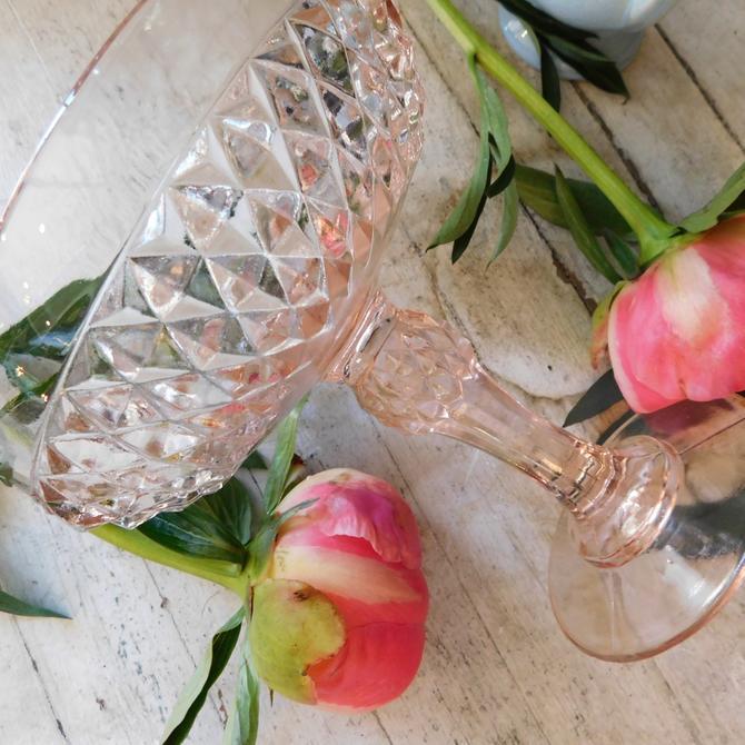 Tall Cut Glass Pinkie Candy / Catchall Dish
