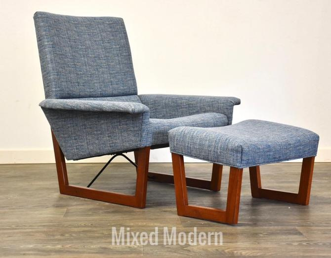 Danish Teak MCM Lounge Chair & Ottoman by mixedmodern1
