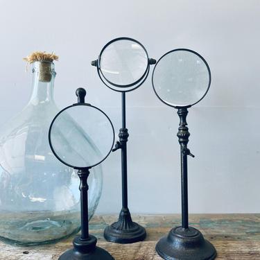 Set of 3 Decorative Magnifying Glasses on Stands | Shelfie Decor | Bookshelf Decor | Mantel Decor | Travel Decor | Curiosity Cabinet Display by PiccadillyPrairie