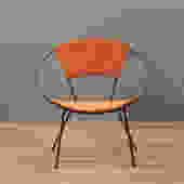 Atomic Iron & Orange Hoop Chair – ONLINE ONLY
