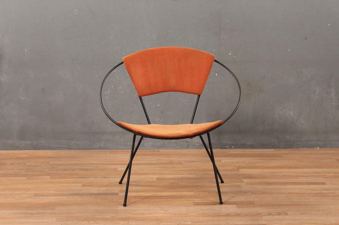 Atomic Iron & Orange Hoop Chair – ONLINE ONLY
