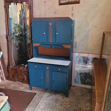 Painted Hoosier Kitchen Cabinet