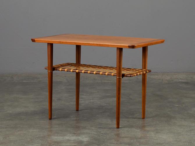 Vintage Norwegian End Table Mid Century Modern Teak by MadsenModern