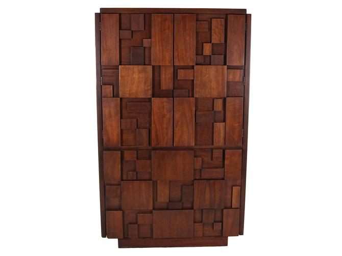 Mid Century Brutalist Armoire By Lane by RetroPassion21