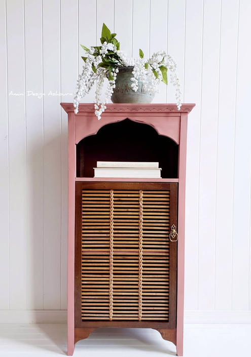 AVAILABLE - Pink Arch Table Foyer Entry Nightstand Wood by AminiDesignAshburn
