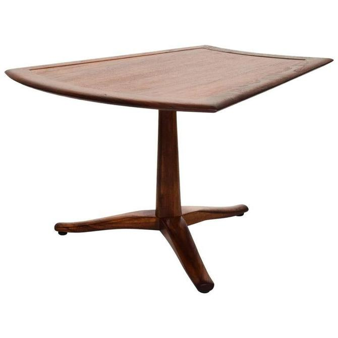 Side Walnut Table Parallel by Barney Flagg for Drexel Mid Century Modern by AMBIANIC