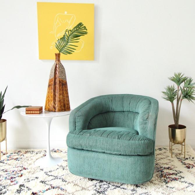 Vintage Green Swivel Chair