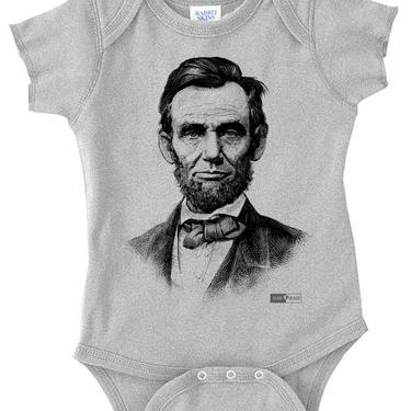 Abraham Lincoln - Unisex Baby Onesie