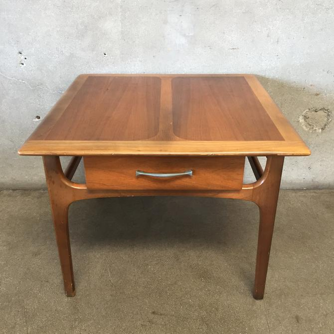 Mid Century Modern Single Drawer Side Table