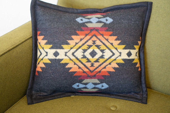 WOOL PILLOW Covers - handcrafted with PENDLETON's Pueblo Dwelling Wool Fabric by CovetModernDesign