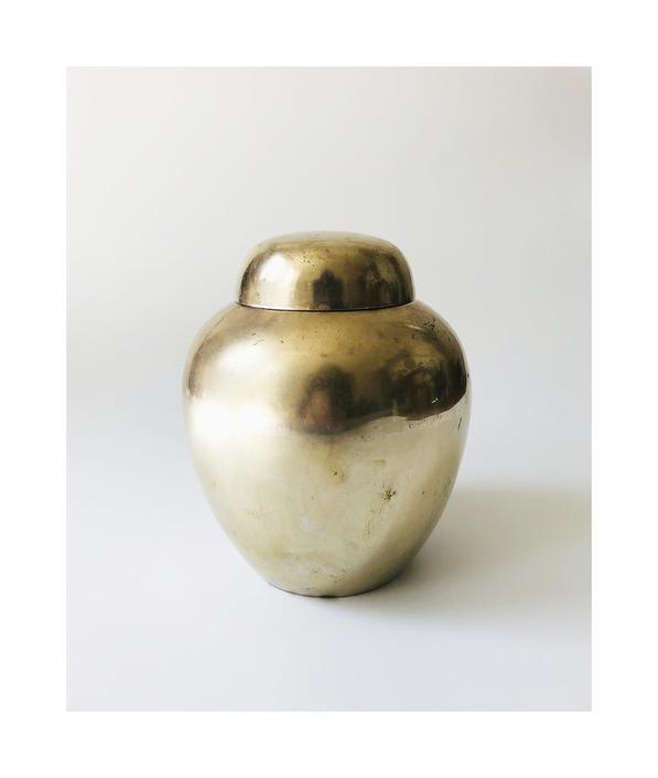Vintage Brass Ginger Jar by SergeantSailor