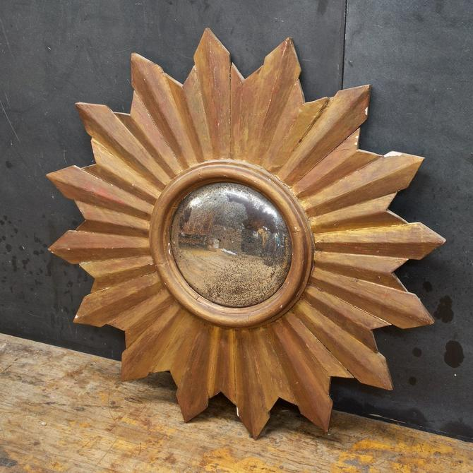 Starburst Mirror Convex Vintage Wooden Painted Shabby Chic Mid-Century Farmhouse Wall Star Atomic Retro Rustic Modern by BrainWashington