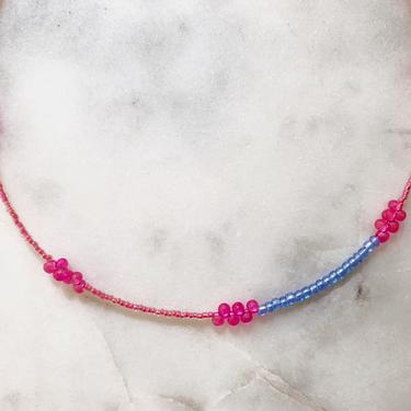 Block Party Collection No. 6 // handmade beaded choker // color block necklace by mammothandminnow