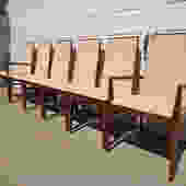 Set of Dining Chairs Dillingham Milo Baughman Set Mid Century Modern Danish Inspired Hollywood Regency Modern Vintage DIA Style Dining Set by DejaVuDecors
