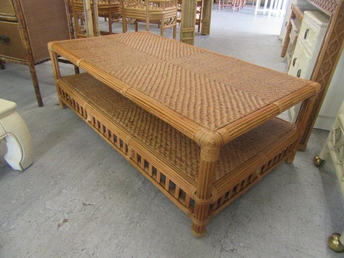 Island Style Woven Coffee Table