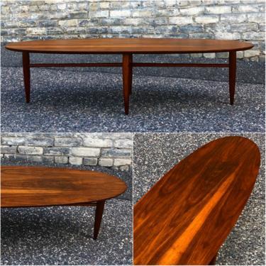 Elliptical Walnut Coffee Table