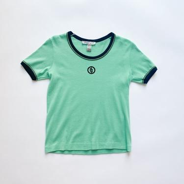1970s Emilio Pucci Logo Embroidered Ringer Tee by waywardcollection