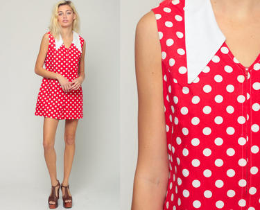 mod romper 70s romper shorts polka dot playsuit women 60s outfit