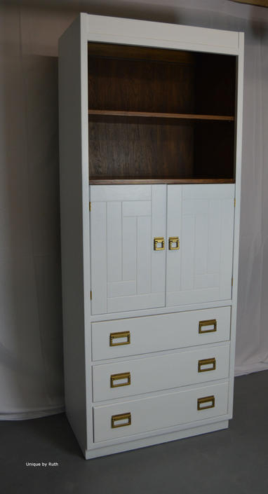 Mid Century Secretary Desk Bookshelf Dresser By UniquebyRuth