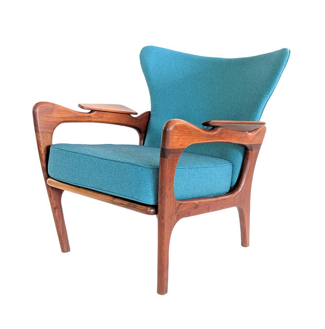 1960s Vintage Adrian Pearsall Vintage Wingback Chair by MarquisModern