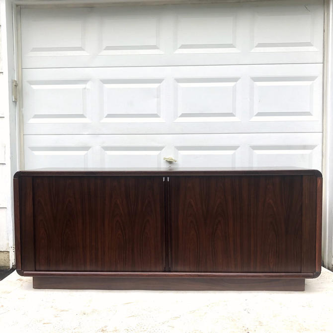 Mid-Century Tambour Rosewood Sideboard by Dyrlund by secondhandstory