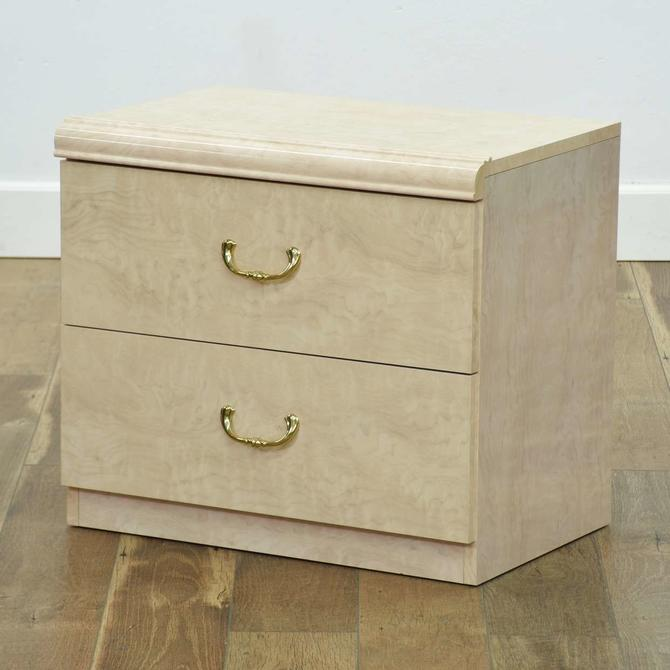Contemporary Neoclassical Ivory Nightstand