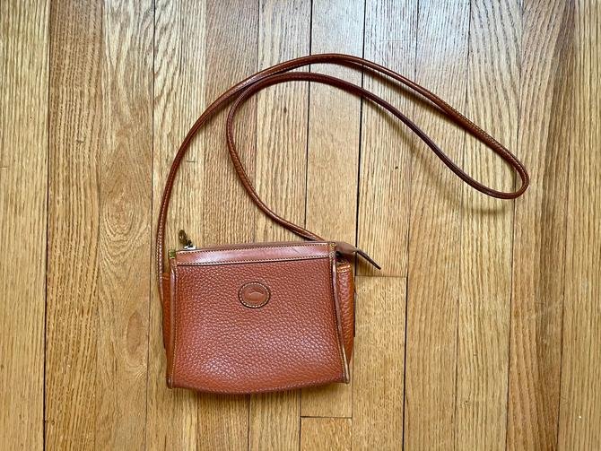 Vintage Dooney And Bourke British Tan Small Mini Zip Top Crossbody Purse, Rare Size by BlackcurrantPreserve