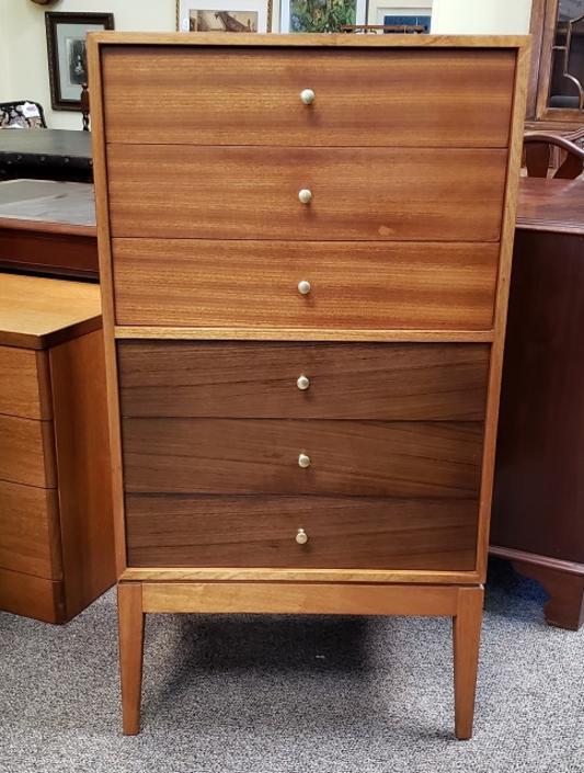 Item #R57 Vintage Teak Chest of Drawers by Uniflex c.1960s